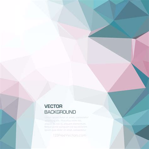 Colorful Geometric Polygon Background Template 123freevectors Background Template