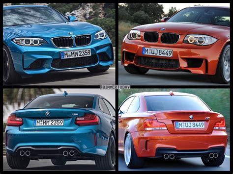 Bmw 1er Coupe Facelift Unterschiede by Bild Vergleich Bmw M2 Trifft Vorg 228 Nger Bmw 1er M Coup 233