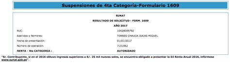 suspension de retension renta de 4ta categoria 2016 sunat suspensi 243 n de 4ta categor 237 a 2017 videotutorial
