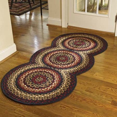 kitchen braided rugs folk braided rug runner by park designs