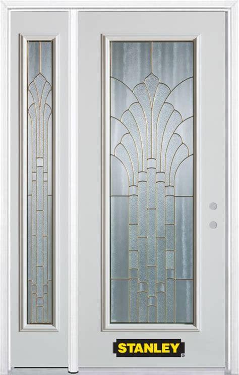 Stanley Doors 52 In X 82 In Full Lite Pre Finished White Home Depot Doors Exterior Steel