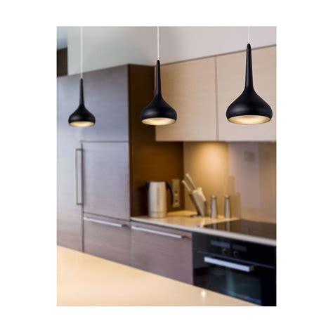 Supérieur Spot En Applique Pour Cuisine #4: suspension-led-noire-cuisine.jpg