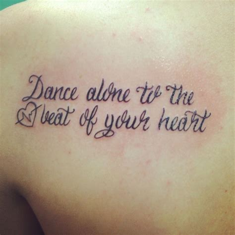 heart tattoo lyrics quot alone to the beat of your quot tattoos
