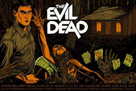 film evil dead the geeky nerfherder movie poster art the evil dead trilogy