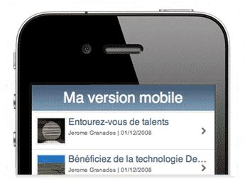 web version on mobile web mobile cr 233 ation de site mobile et cagne marketing