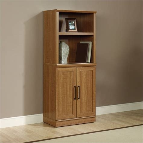 oak finish storage cabinet sauder homeplus base oak finish storage cabinet ebay