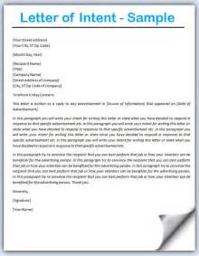 Letter Of Intent Heading Letter Of Intent Sle Writing Professional Letters