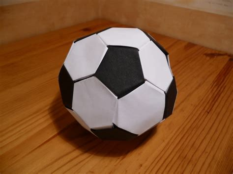 How To Make A Paper Soccer - origami nut 187 origami football