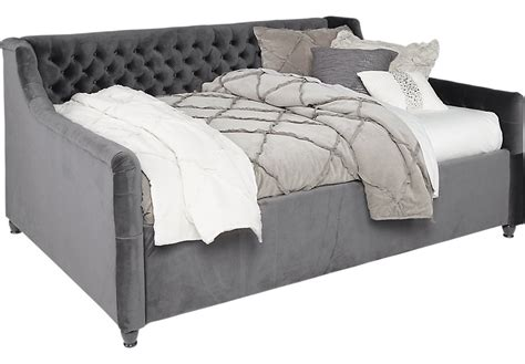 rooms to go sofa bed alena charcoal 2 pc twin daybed daybeds colors