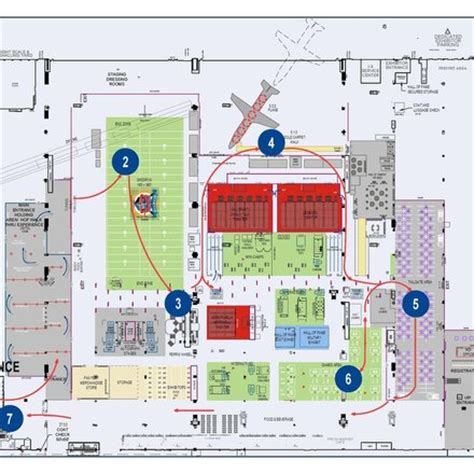 rock and roll of fame floor plan baam projects pro football hall of fame fan fest