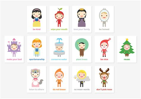 kid cards happy manners card set of 43 manners learning