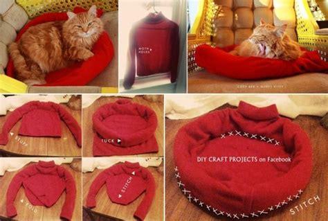 tutorial tempat tidur kucing 10 camas para animais feitas com material reciclado