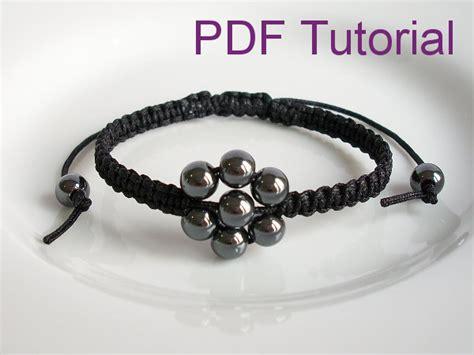 Make Macram Cord Bracelet Patterns Home - pdf tutorial beaded flower square knot macrame bracelet