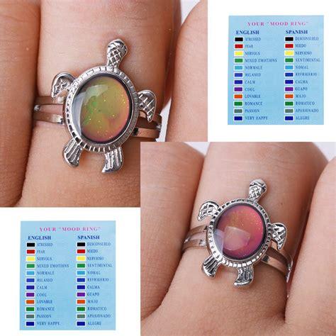 Mm Mood turtle color changing mood ring adjustable f6 ebay