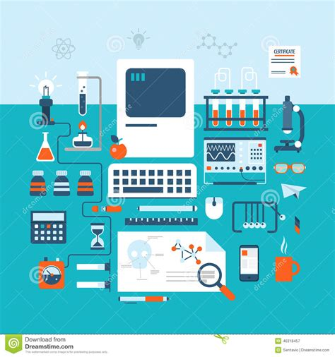 experiment design for lab science technology research laboratory workspace flat