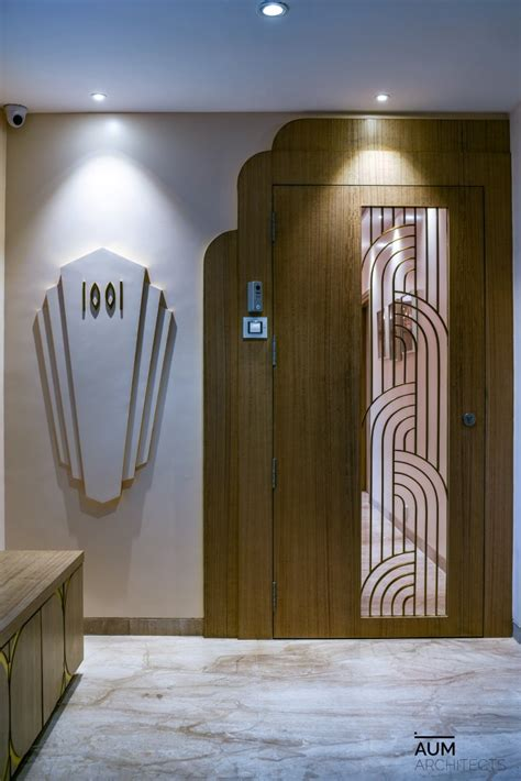art deco style interior project aum architects mumbai