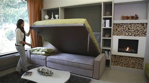 bed and living storage wall bed milano smart living youtube