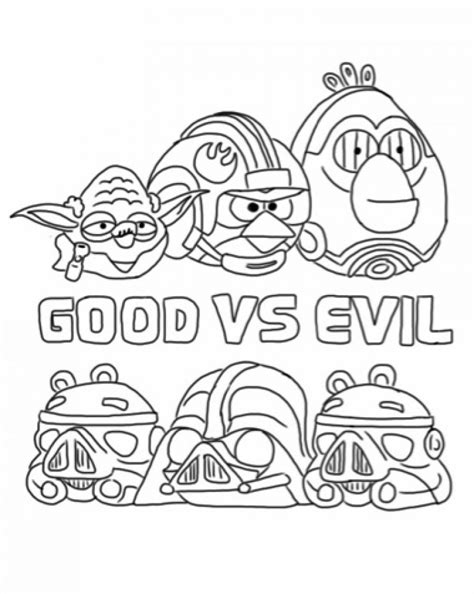 angry birds starwars free colouring pages