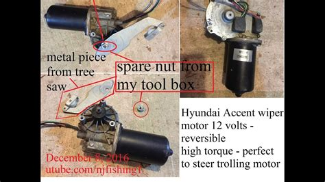Motor Wiper 7k how to use a wiper motor to steer a trolling motor part 1 of 3