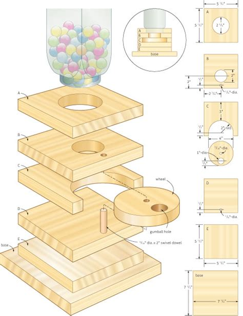 create woodworking plans ideas gumball machine woodworking project woodworking plans