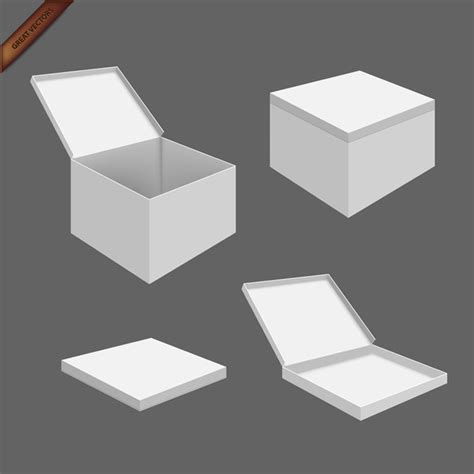 white packaging box templates vector download