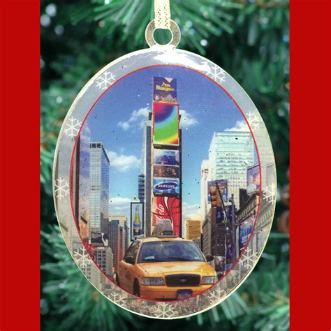 times square taxi new york christmas ornament ny