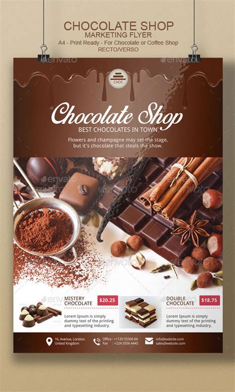 Best Online Home Design Software chocolate flyer template by blogankids graphicriver