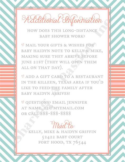 Distance Baby Shower Invitations by Turquoise And Coral Baby Shower Invitation By