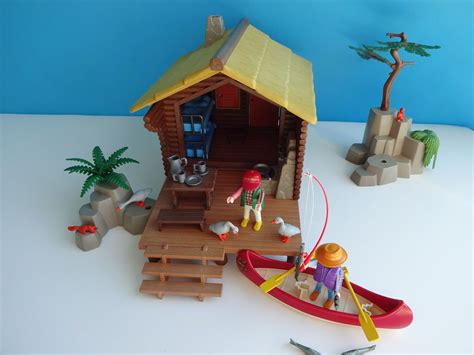 playmobil log cabin playmobil 3826 sportsman s fishing log cabin 1996 almost