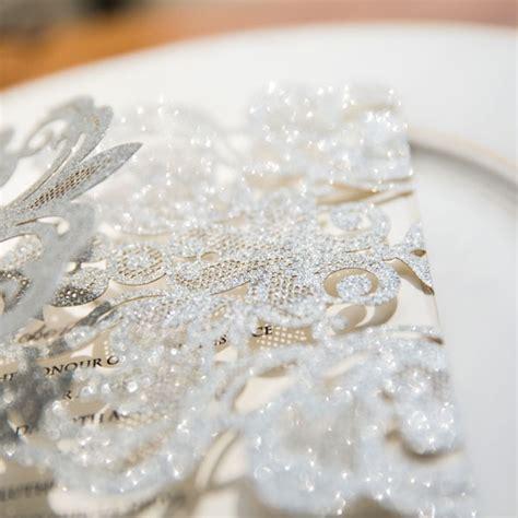 Snowflake Wedding Invitations by Simple Silver Winter Laser Cut Snowflake Wedding