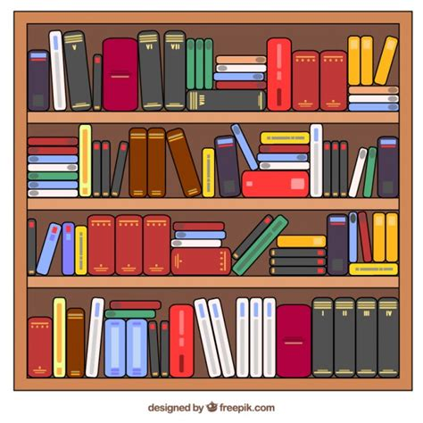 estantes para libros gratis dibujados a mano estantes llenos de libros descargar