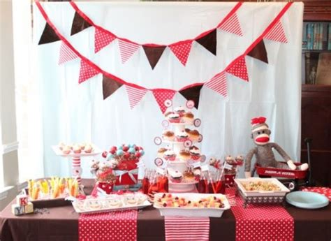 Sock Monkey Baby Shower Ideas by On A Budget A Sock Monkey Baby Shower For 100