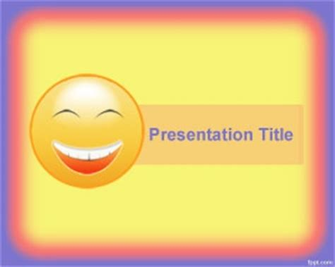 Happiness Powerpoint Template Is A Free Shiny Yellow Template For Powerpoint Presentations That Digital Smile Design Powerpoint Template