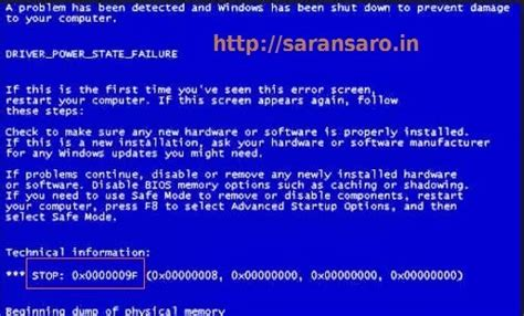 Stop Anytame Xl 0 19 blue screen stop error in windows operating system tips tricks