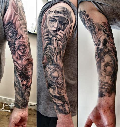 end times tattoo leeds opening times relig sleeve tattoo by justyna kurzelowska2 dark rose tattoo