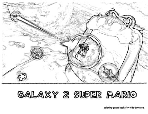 transmissionpress wii super mario galaxy  coloring pages