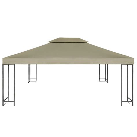 gazebo cover waterproof gazebo cover canopy beige 10 x 13 vidaxl