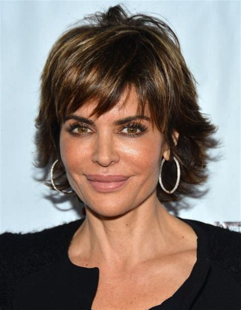 women over 50 with curly ombre hairstyle shaggy short haircuts