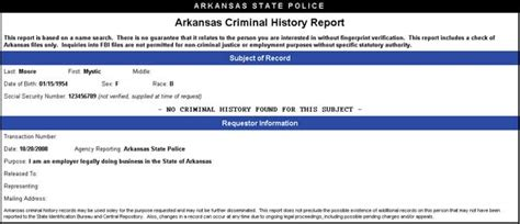 Arkansas State Criminal Record Check Criminal Background Check System