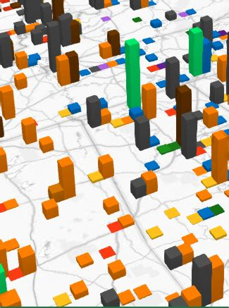 switch between stacked and clustered columns in a 3d maps
