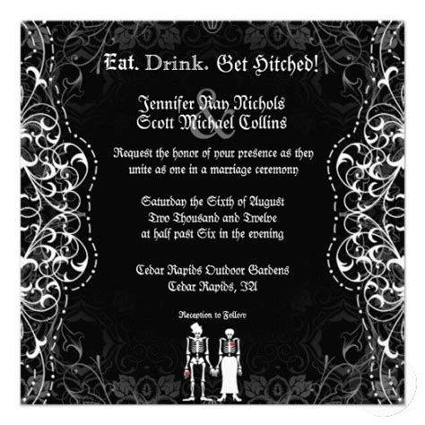 28 best images about halloween wedding invitations on