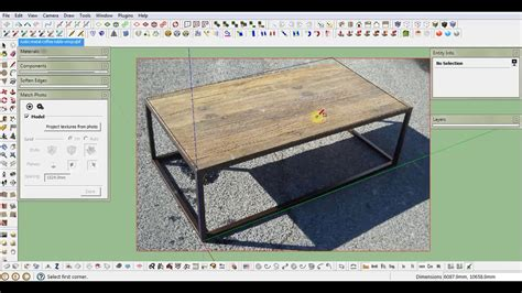 tutorial sketchup photo match sketchup tutorial match photo how to crop texture