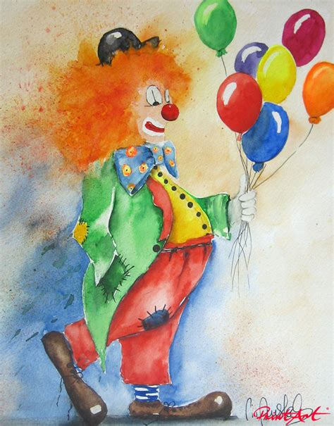 Clown L by Amstad Pia Stillleben Clown