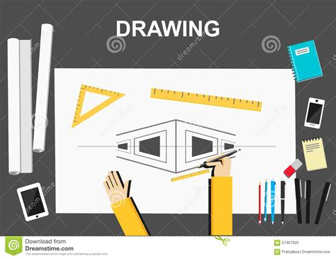 design concepts expert contractors architectural illustration royalty free stock photo