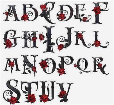 imagenes bonitas rokeras 20 tipos de letras para dibujar graffitis y goticas