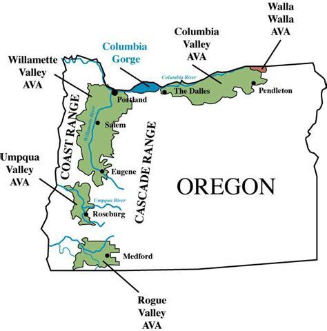 map of oregon vineyards schiller wine winetasting the excellent wines of ken