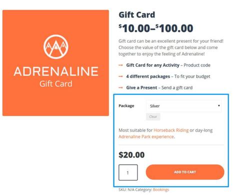 Themeforest Gift Card | how to create a gift card with woocommerce in adrenaline