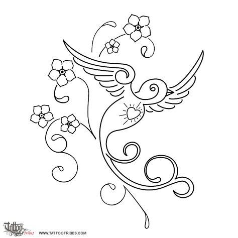 catalogo tatuaggi fiori of sparrow and flowers memory