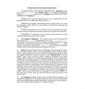 Employment Separation Agreement Template by 10 Separation Agreement Templates Free Sle Exle