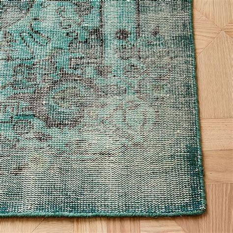 how to overdye a rug caspian distressed rug blue overdye west elm